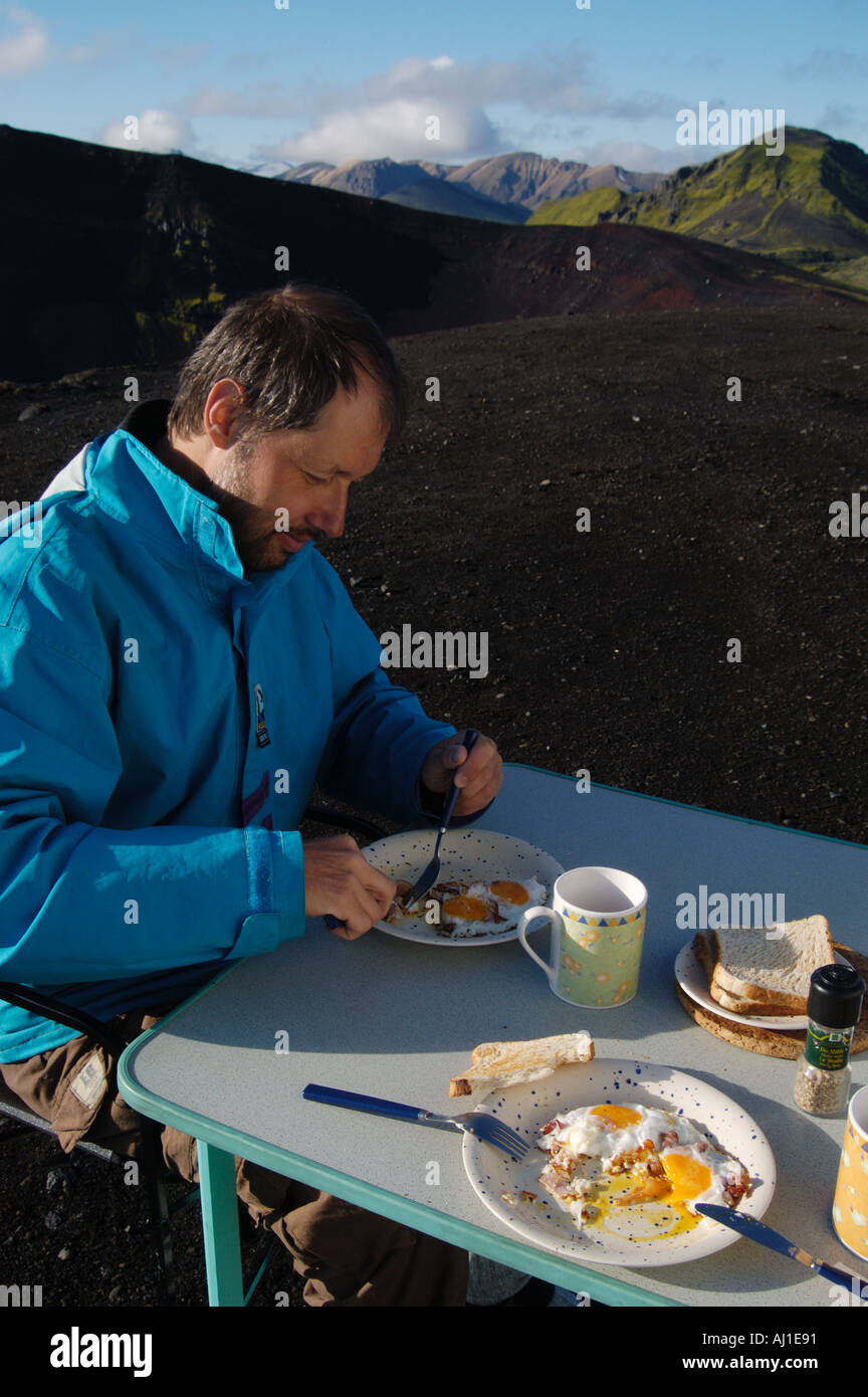 Awe Inspiring Outdoor Breakfast At The Caldera Of The Ljotipollur Volcano Beutiful Home Inspiration Aditmahrainfo