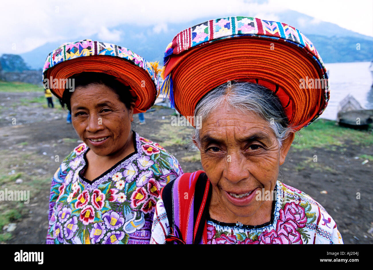 Guatemala, Solola Department, Santiago Atitlan, on Atitlan Lake, mostly populated with Tzutuhil and Cackchiquels - Stock Image
