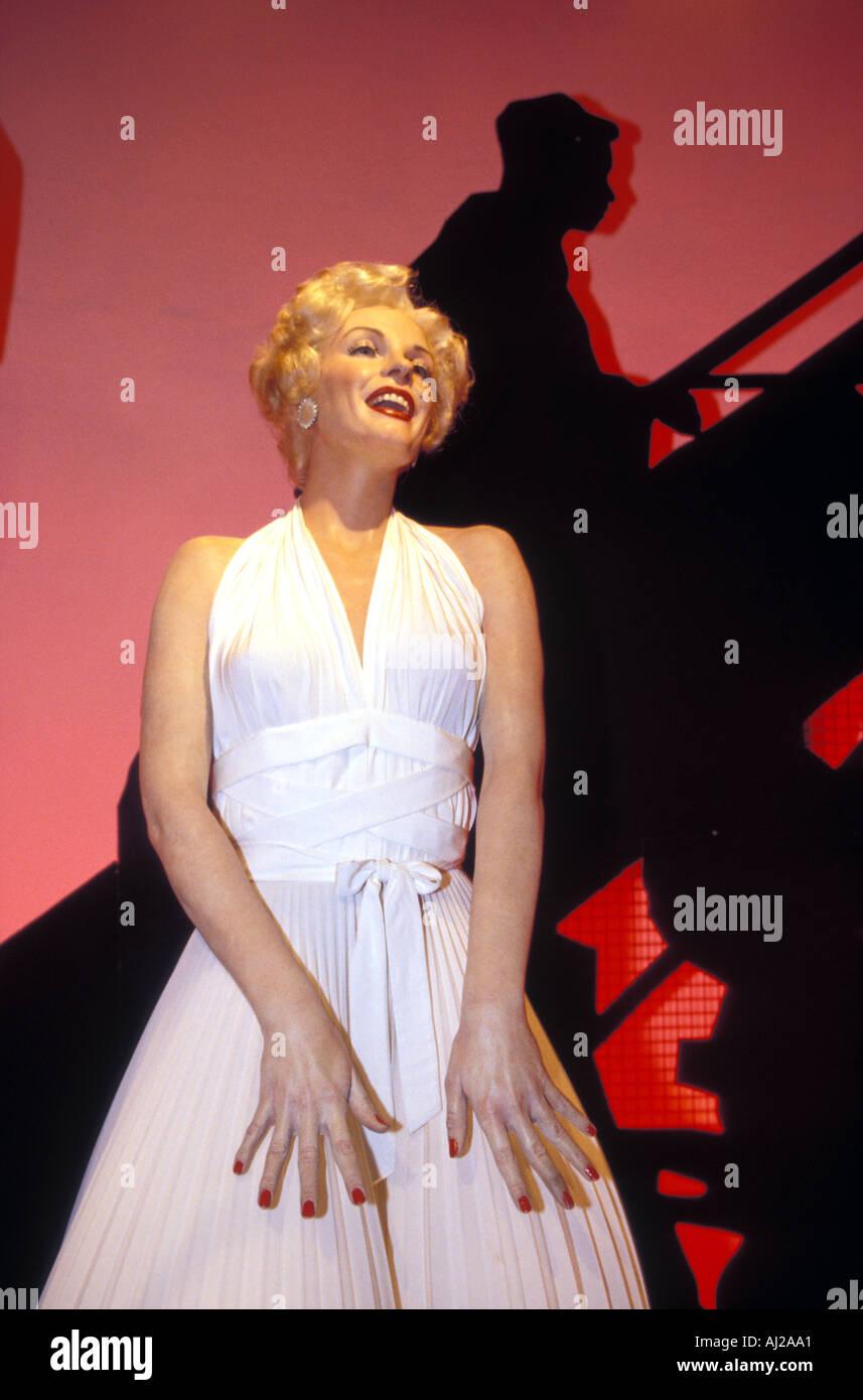 Marylin Monroe waxwork at Madame Tussauds, London, England, UK - Stock Image