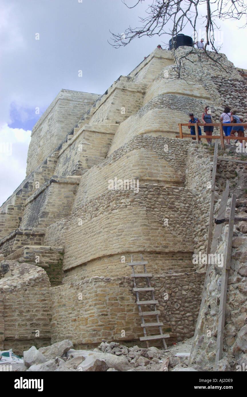 Altun Ha Rock Stone Water Mayan ruins Belize 200 BC 550 AD - Stock Image