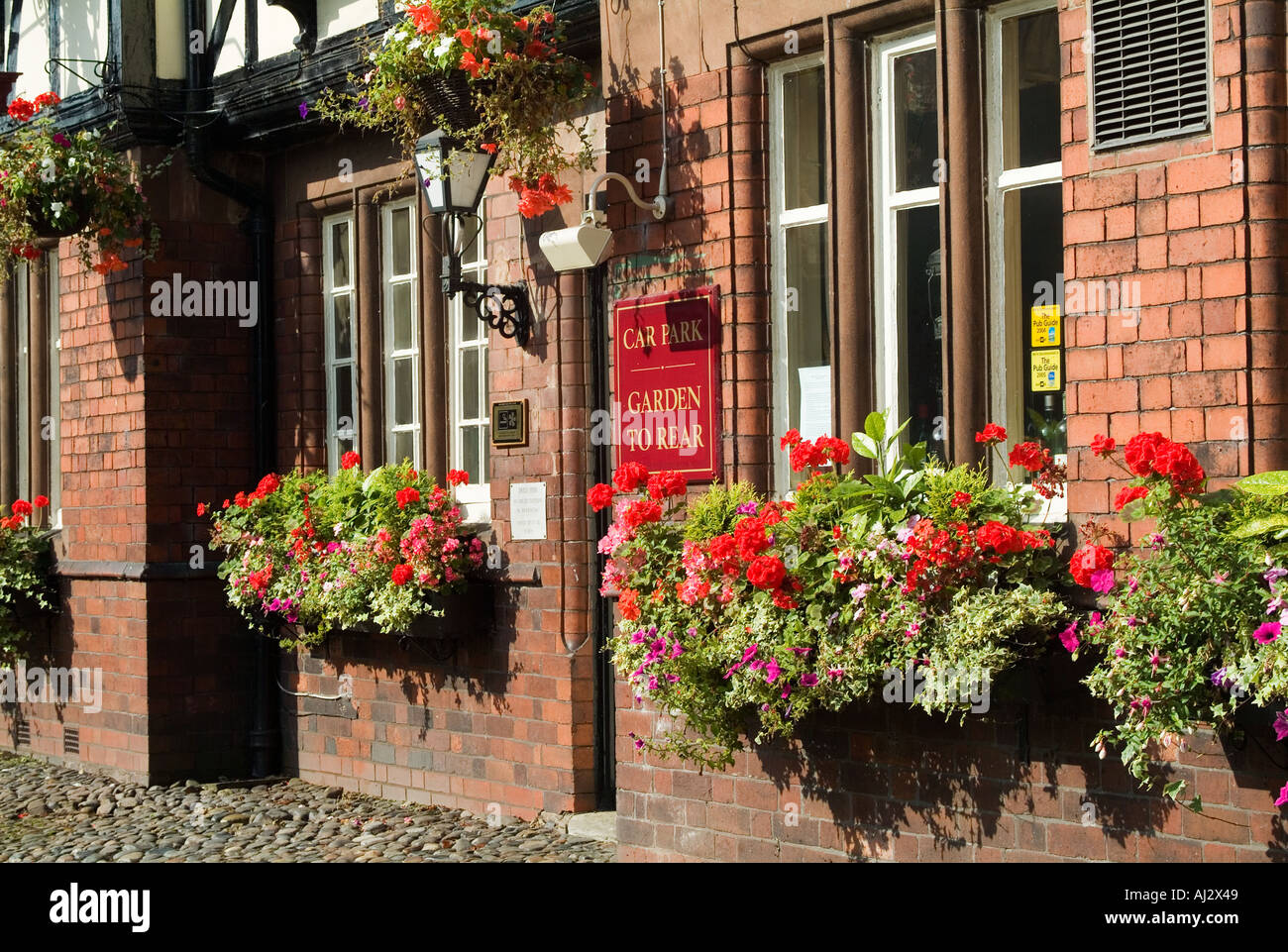 ring o bells Old English public house in Daresbury Cheshire The village where the author of Alice in Wonderland Lewis Carrol - Stock Image