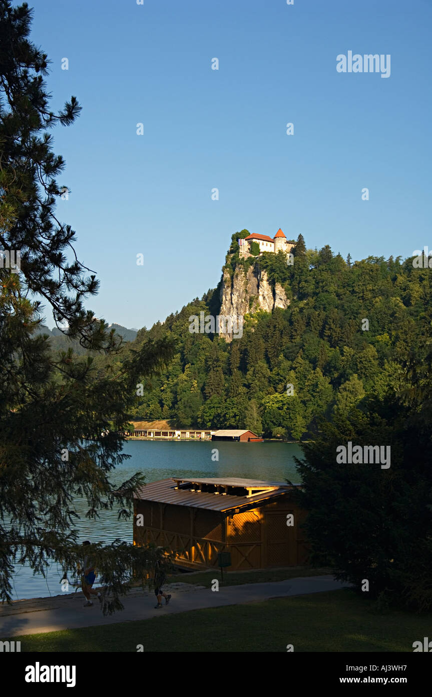 An Early Morning View Of The Grad The Castle At Lake Bled