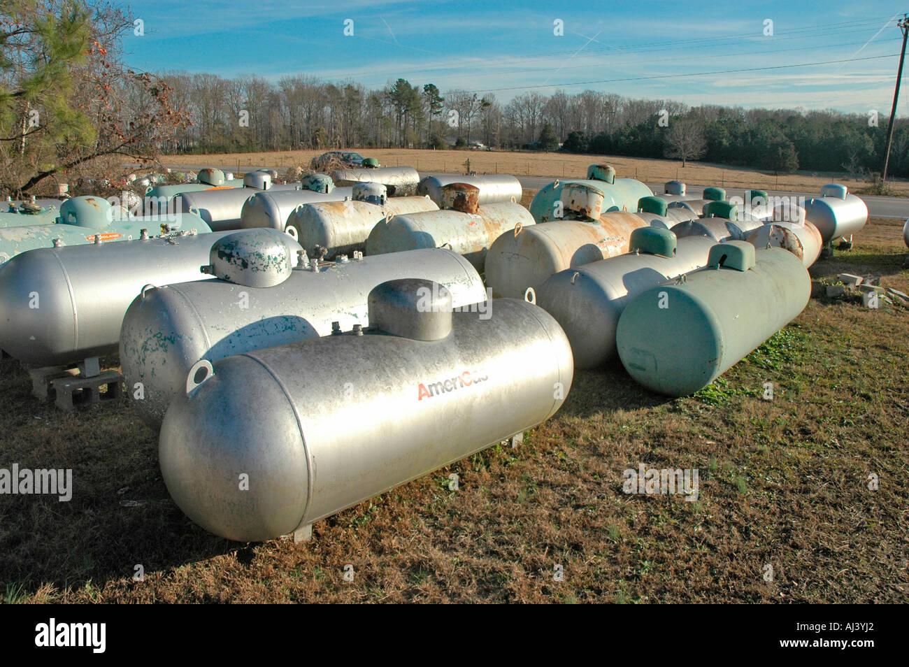 Underground Propane Tanks Stock Photos & Underground Propane Tanks