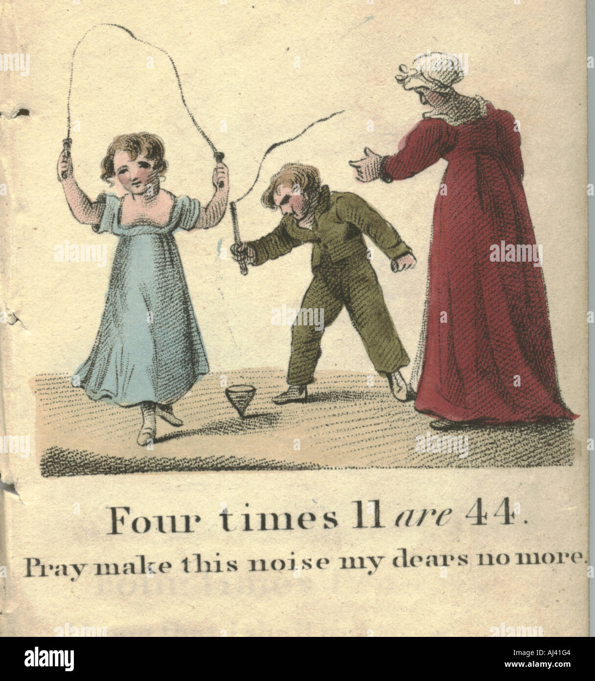 Marmaduke Multiply's merry method of making minor mathmaticians 1816 Stock Photo