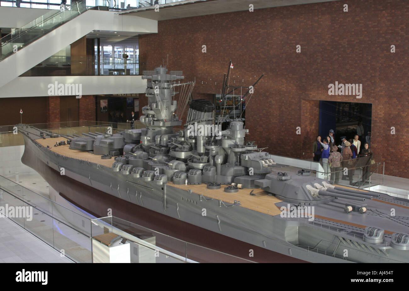 1:10 Scale Model of Battle ship Yamato displayed at Yamato