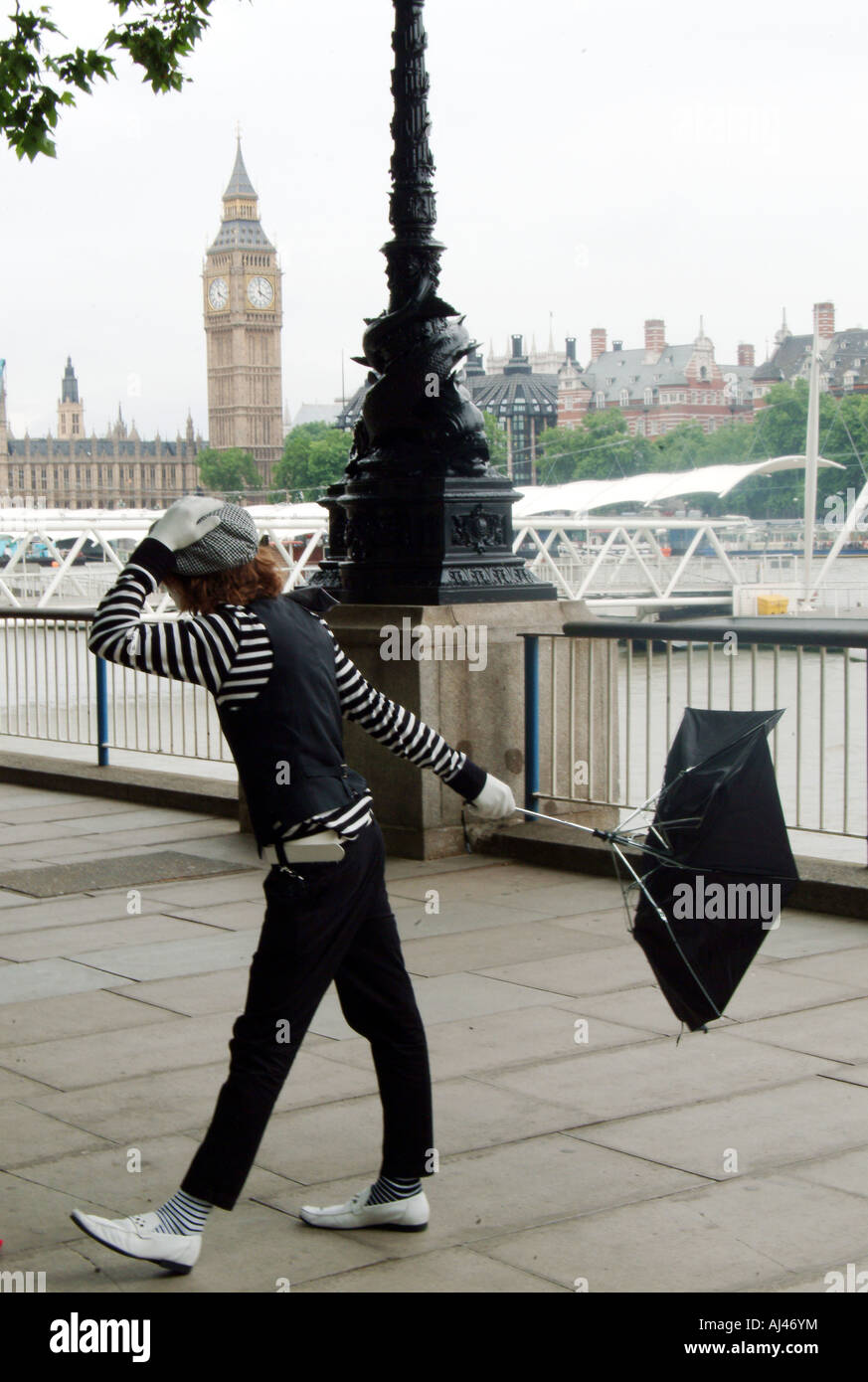 Street Performer, London - Stock Image
