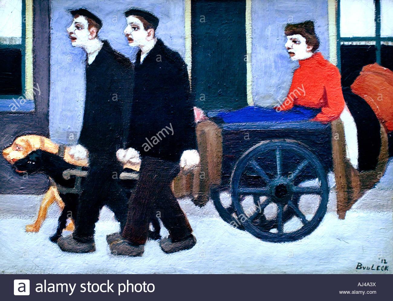 The dog cart 1912 by Bart van der Leck Dutch Painter The Netherlands - Stock Image