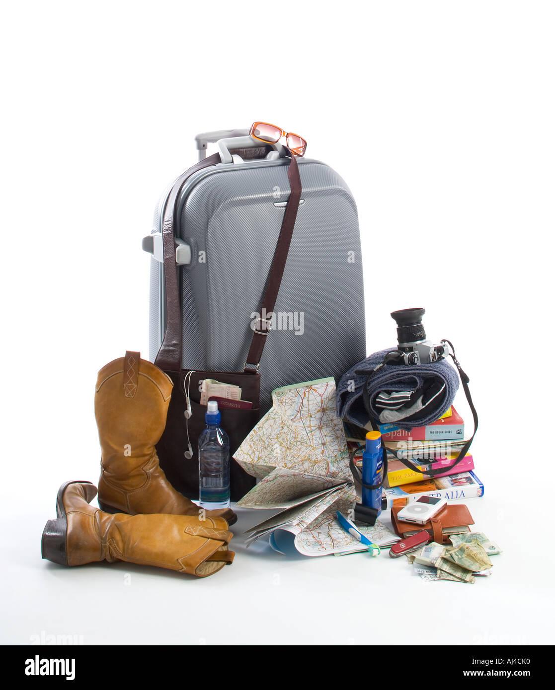 Travel items - Stock Image