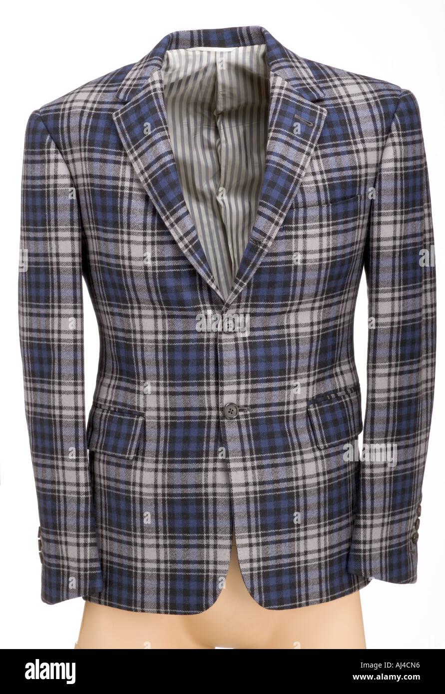 Man's check pattern jacket - Stock Image