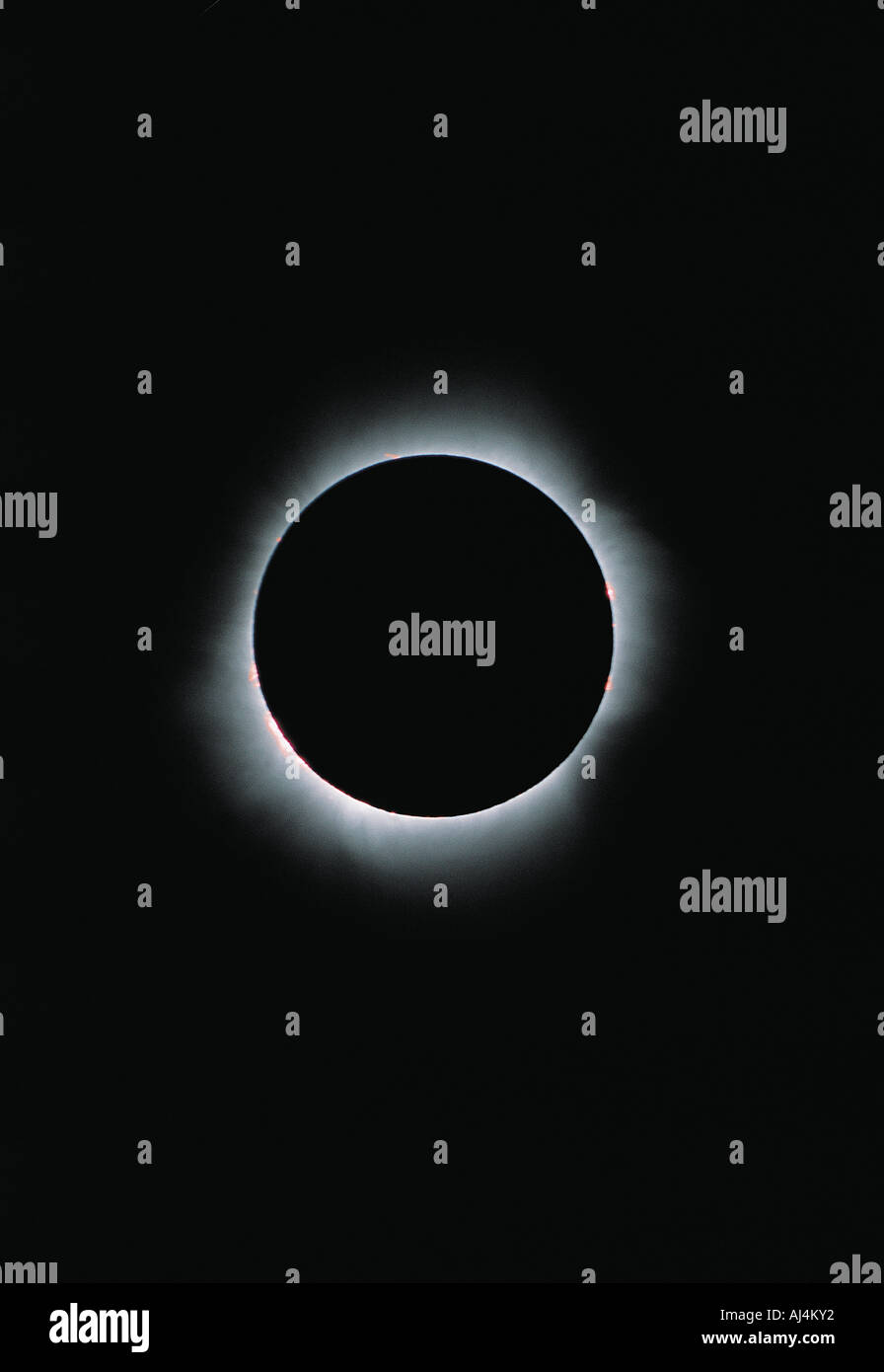 Total solar eclipse. - Stock Image