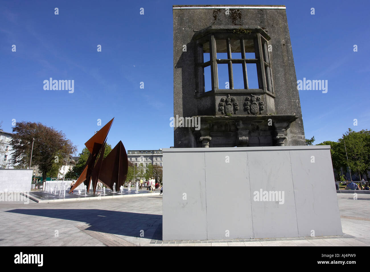 The Browne doorway from 1627 on Eyre Square in the heart of Galway city county Galway Republic of Ireland - Stock Image