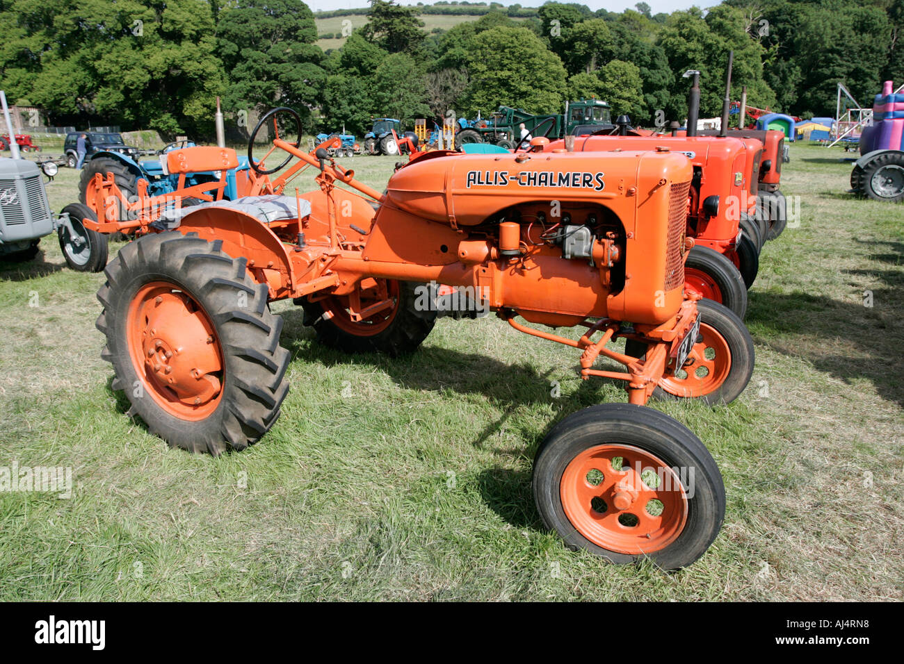 Allis Chalmers Model B Classic Tractor During Vintage Tractor Rally At Glenarm Castle Open Day County