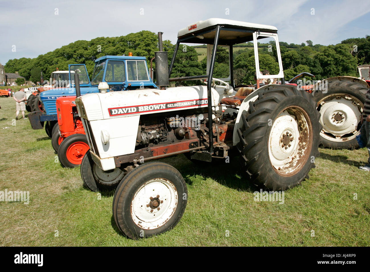 David Brown selectamatic 990 classic tractor during vintage tractor rally  at glenarm castle open day -