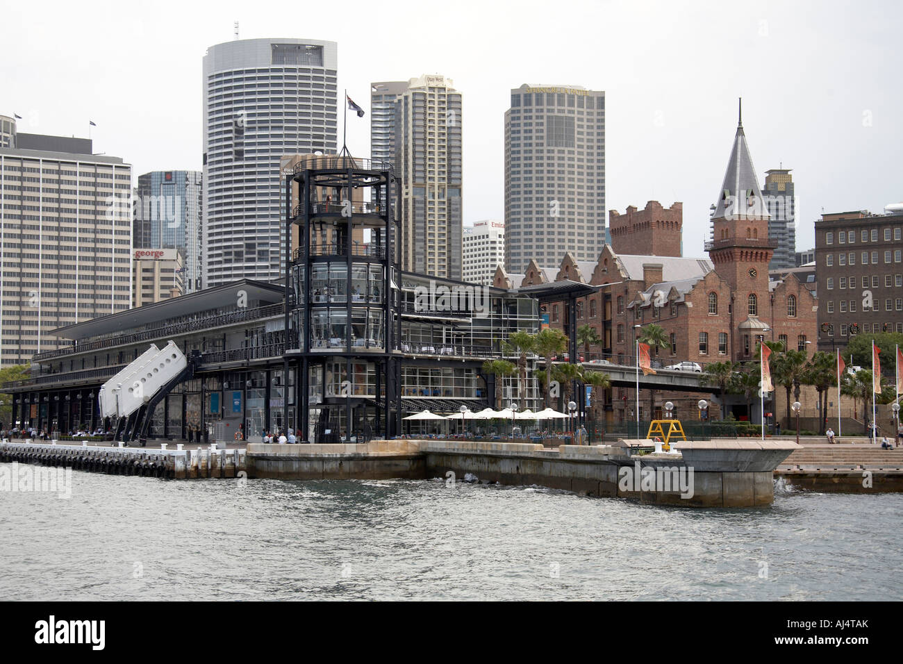 Overseas Passenger Terminal in The Rocks in Sydney New South Wales NSW Australia - Stock Image