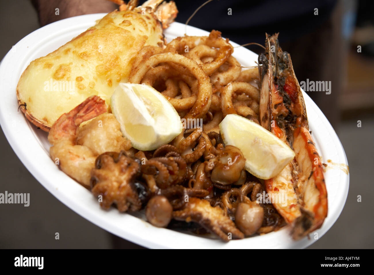Seafood Platter Dish In Fish Market Restaurant Sydney New South Wales Stock Photo Alamy