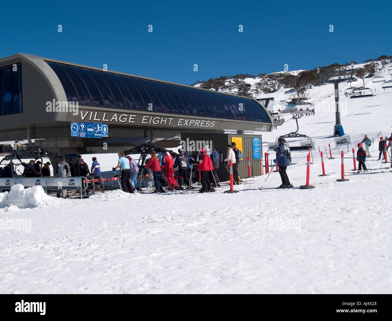 perisher valley ski resort snowy mountains nsw australia stock photo