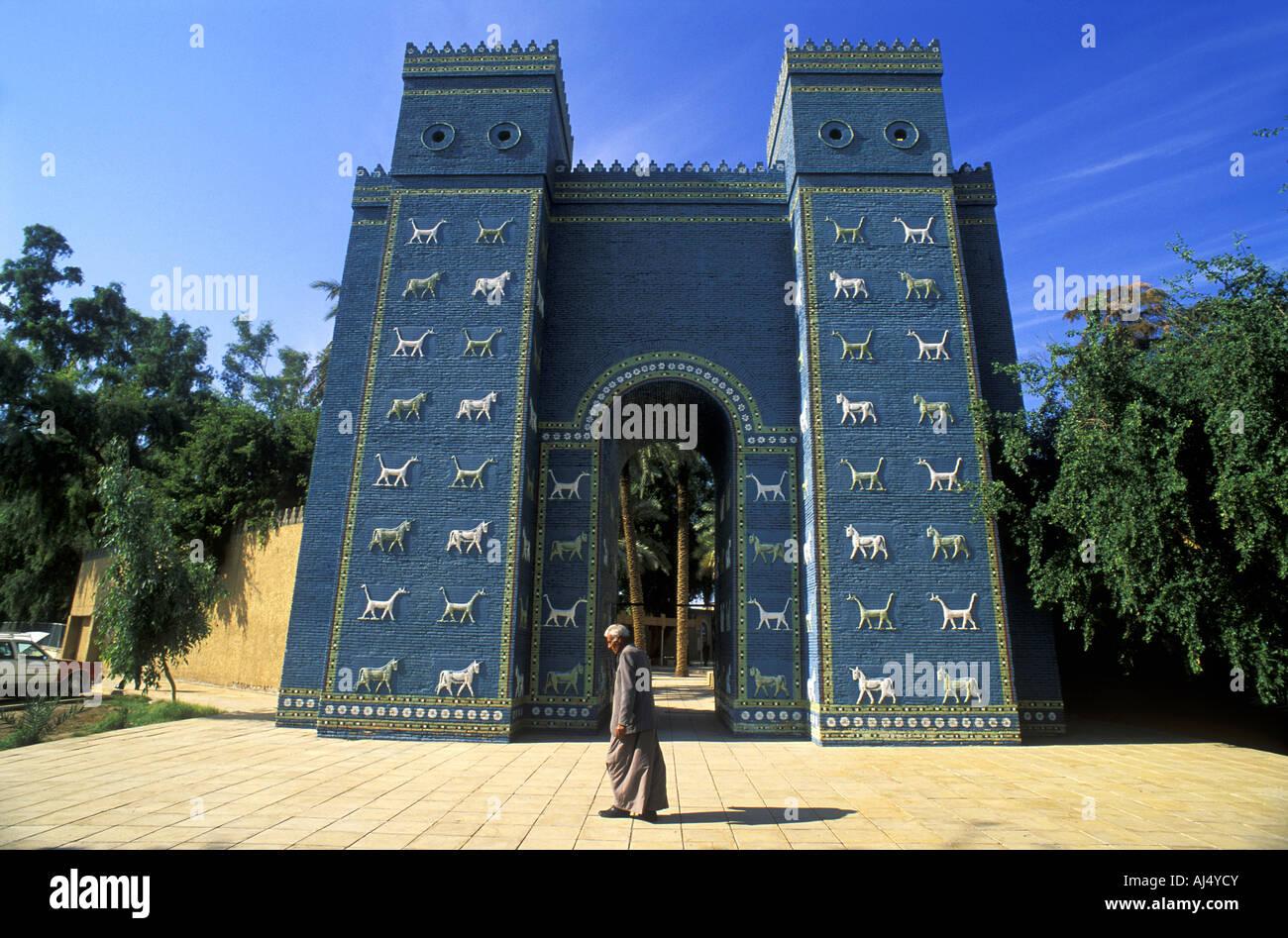 Ishtar Gate Babylon Iraq. Stock Photo