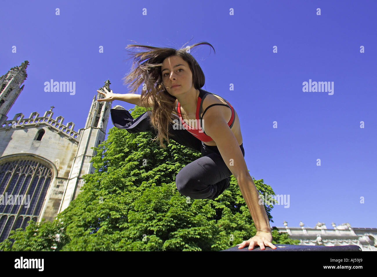 Le Parkour in Cambridge UK - Stock Image