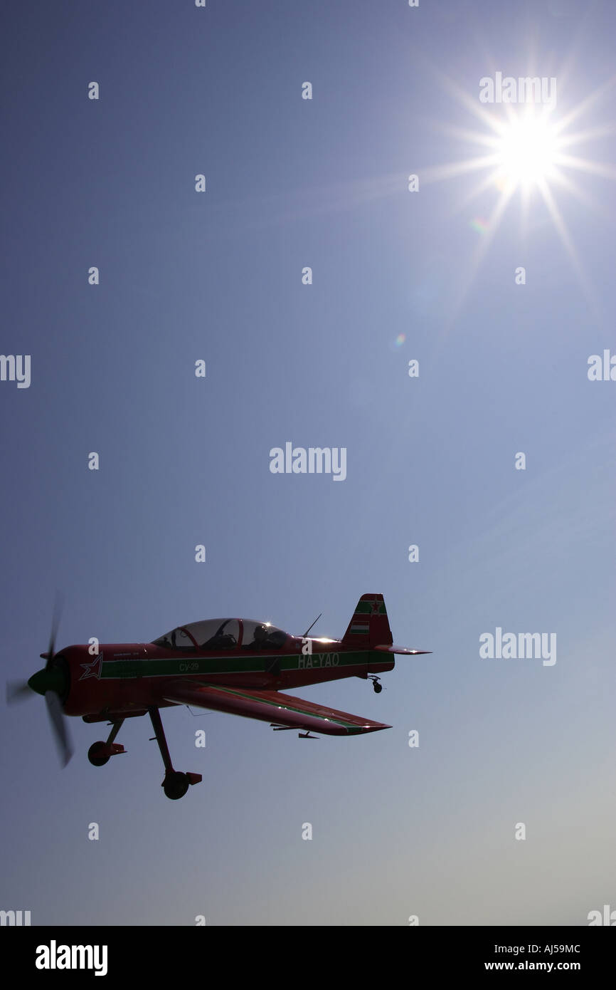 alan cassidy flies a sukhoi su 29 - Stock Image