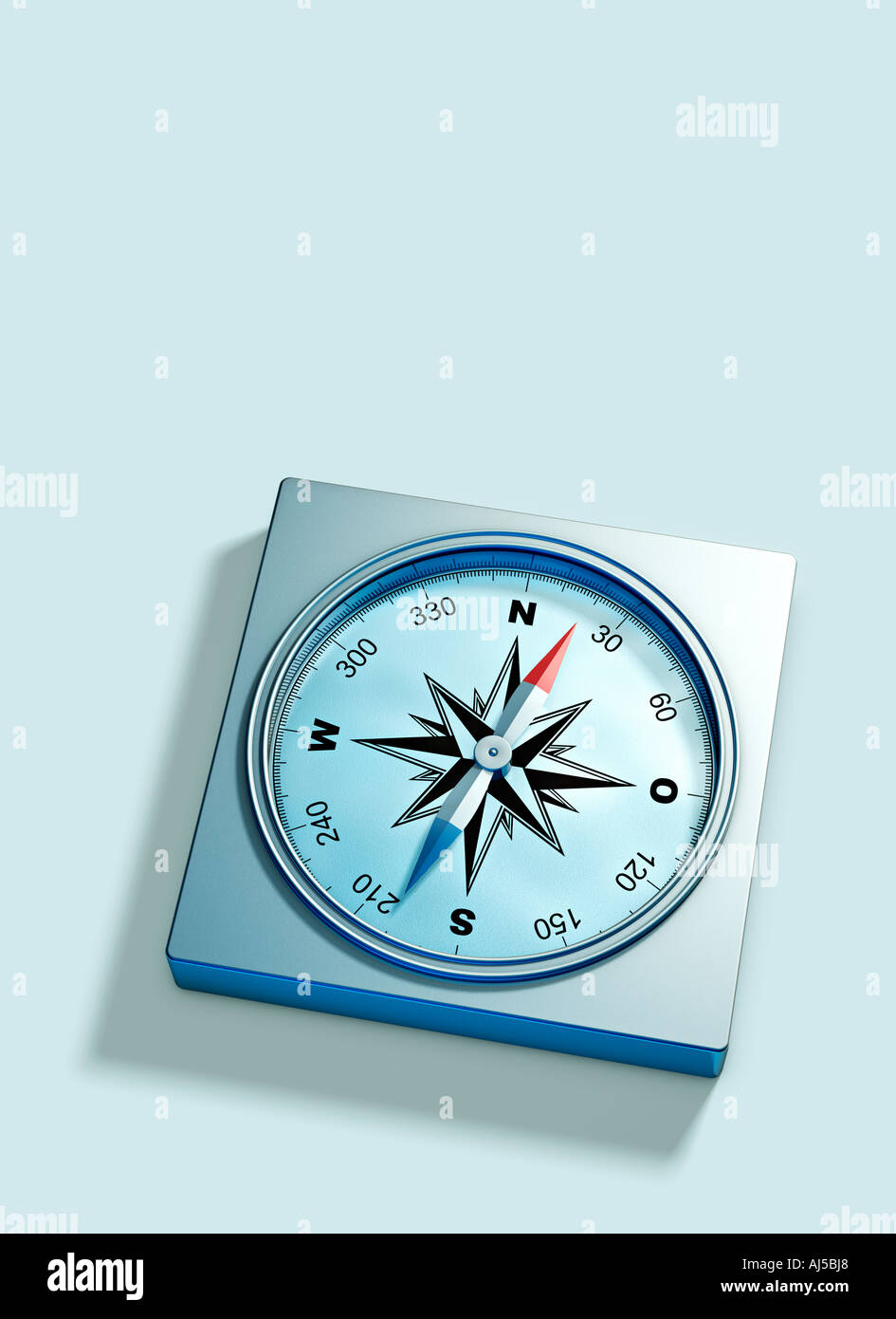 compass symbol of orientation direction and showing the way to the future information navigation GPS Stock Photo