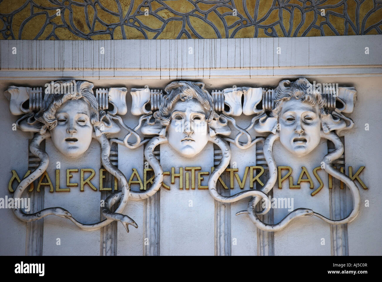 Art Nouveau Secession Building, Vienna, Wein, Republic of Austria - Stock Image