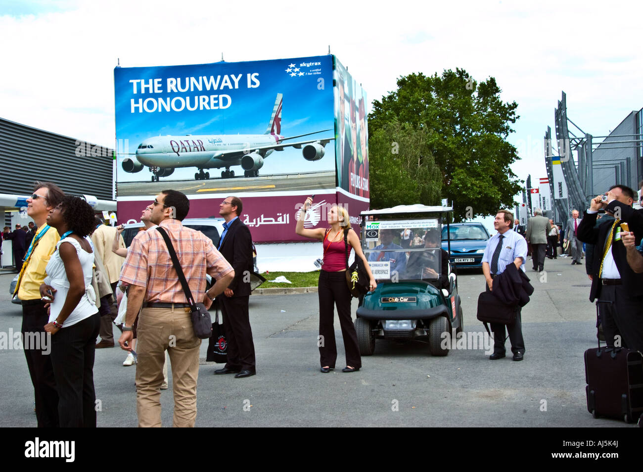 Paris France, 'Public Events' Businesspeople at 'Paris Air Show' at the 'Bourget Airport' - Stock Image