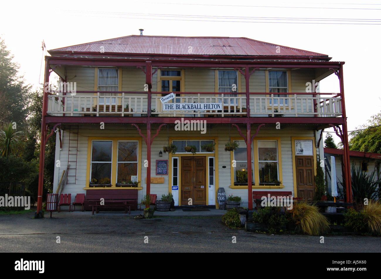 New Zealand South Island Blackball Hilton Hotel - Stock Image
