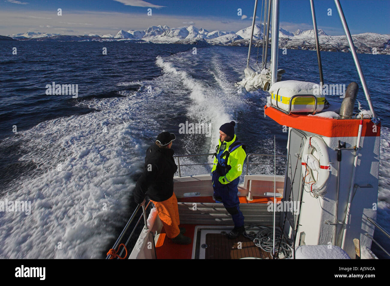 Heading out to the fishing grounds Norway Stock Photo