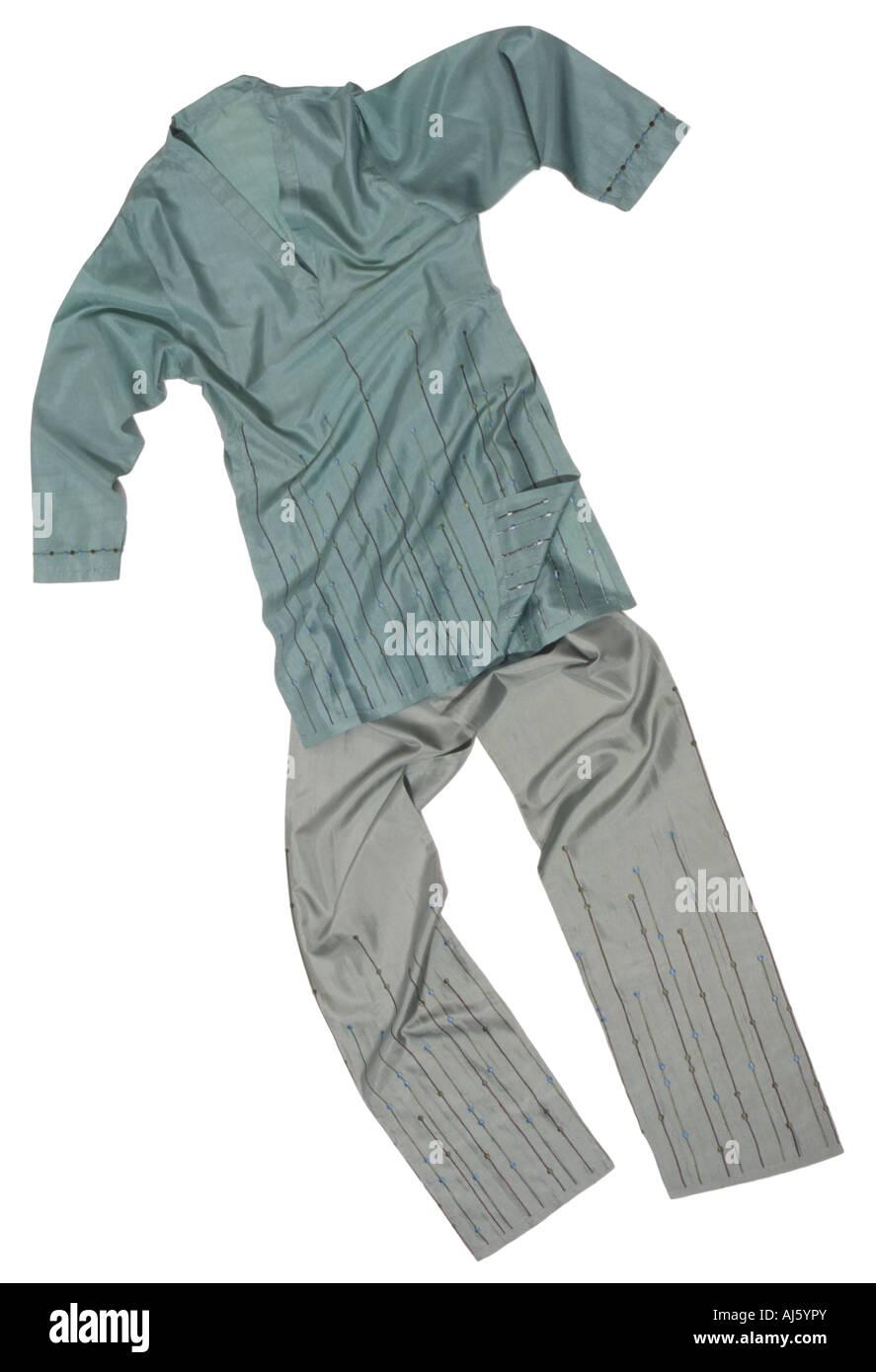 silk nightwear - Stock Image