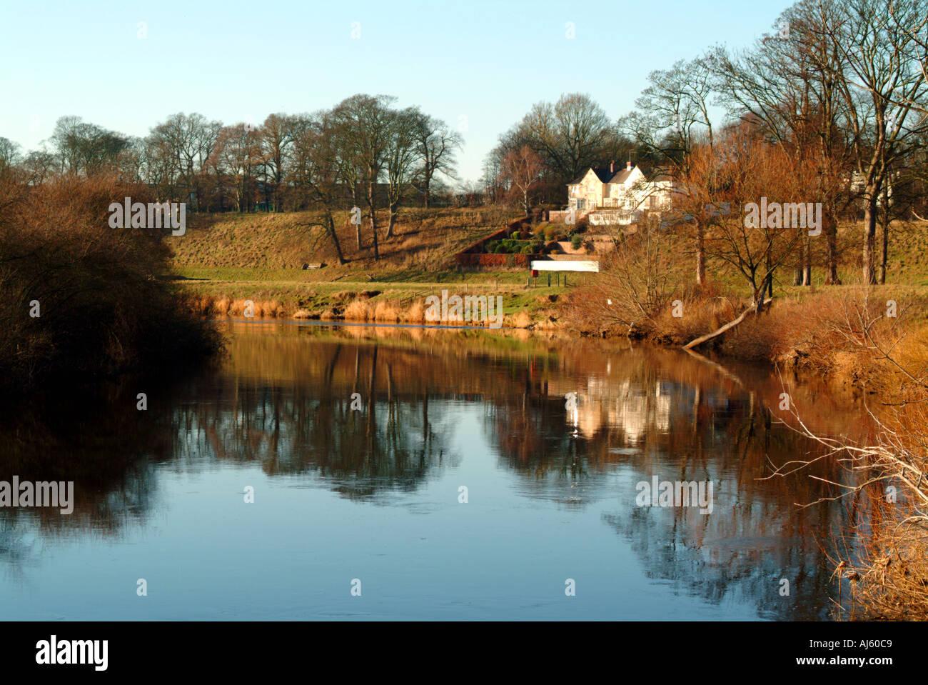 River Eden Rickerby Park Carlisle - Stock Image