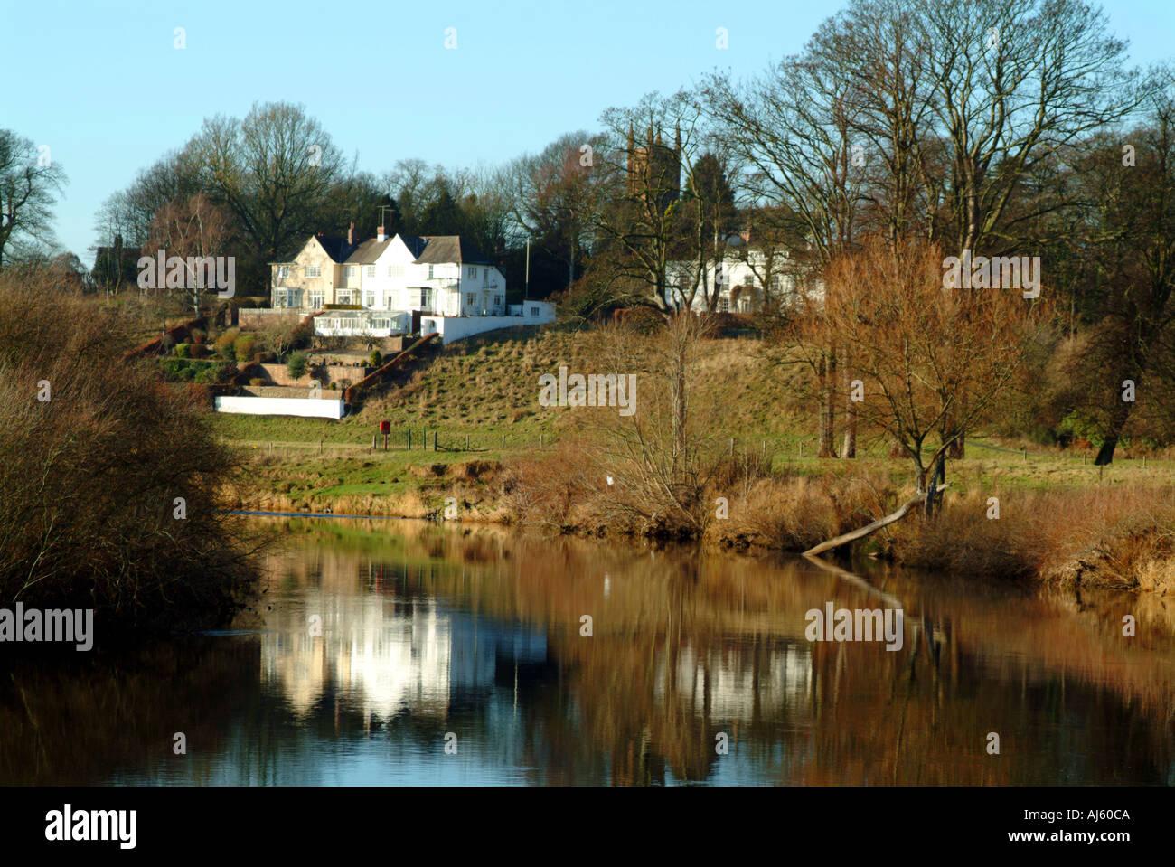 River Eden Rickerby Park Carlisle Cumbria - Stock Image