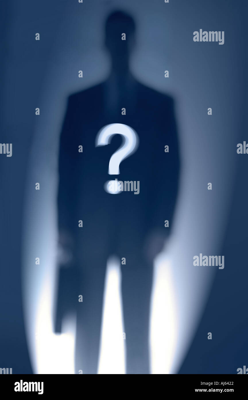 A man of mystery - Stock Image