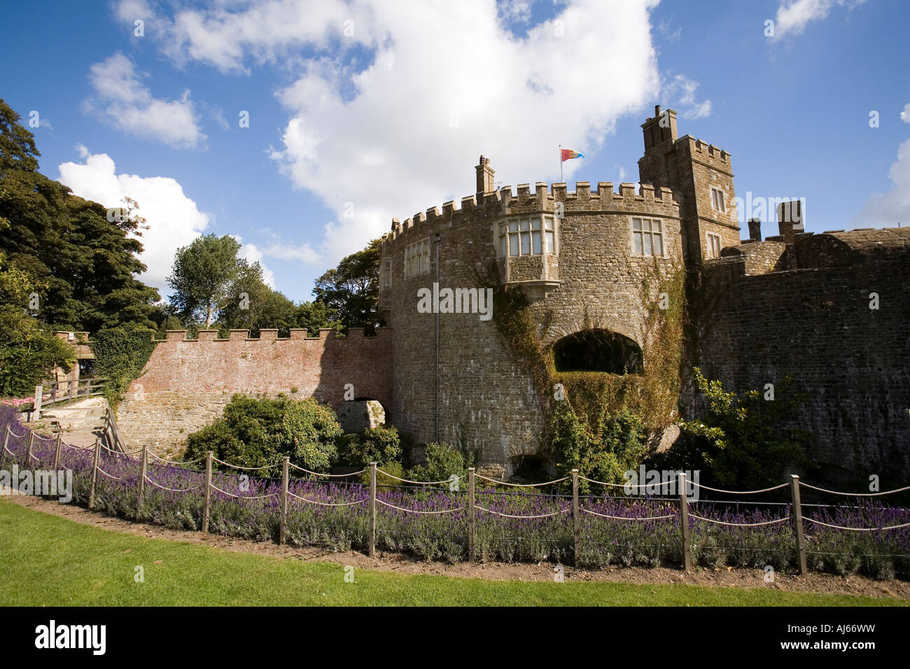 UK Kent Deal Walmer Castle from the gardens - Stock Image
