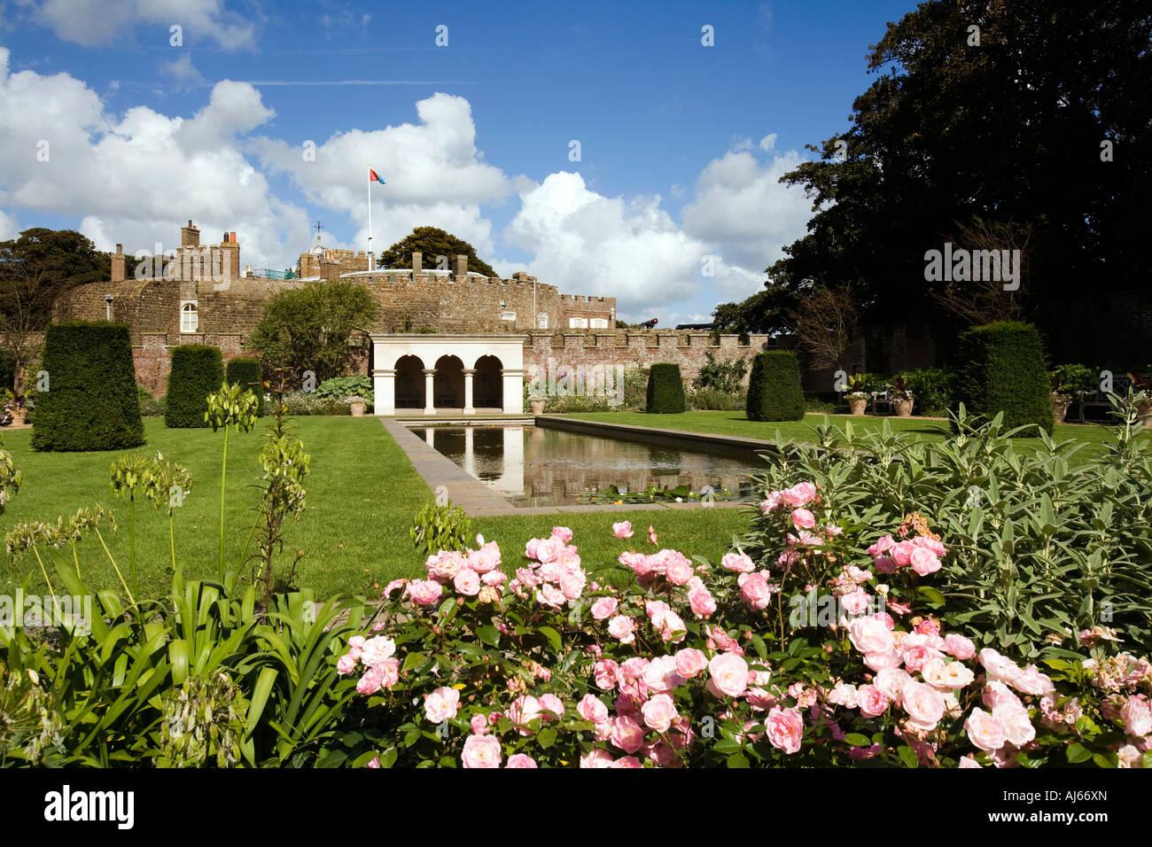 UK Kent Deal Walmer Castle Queen mothers garden - Stock Image