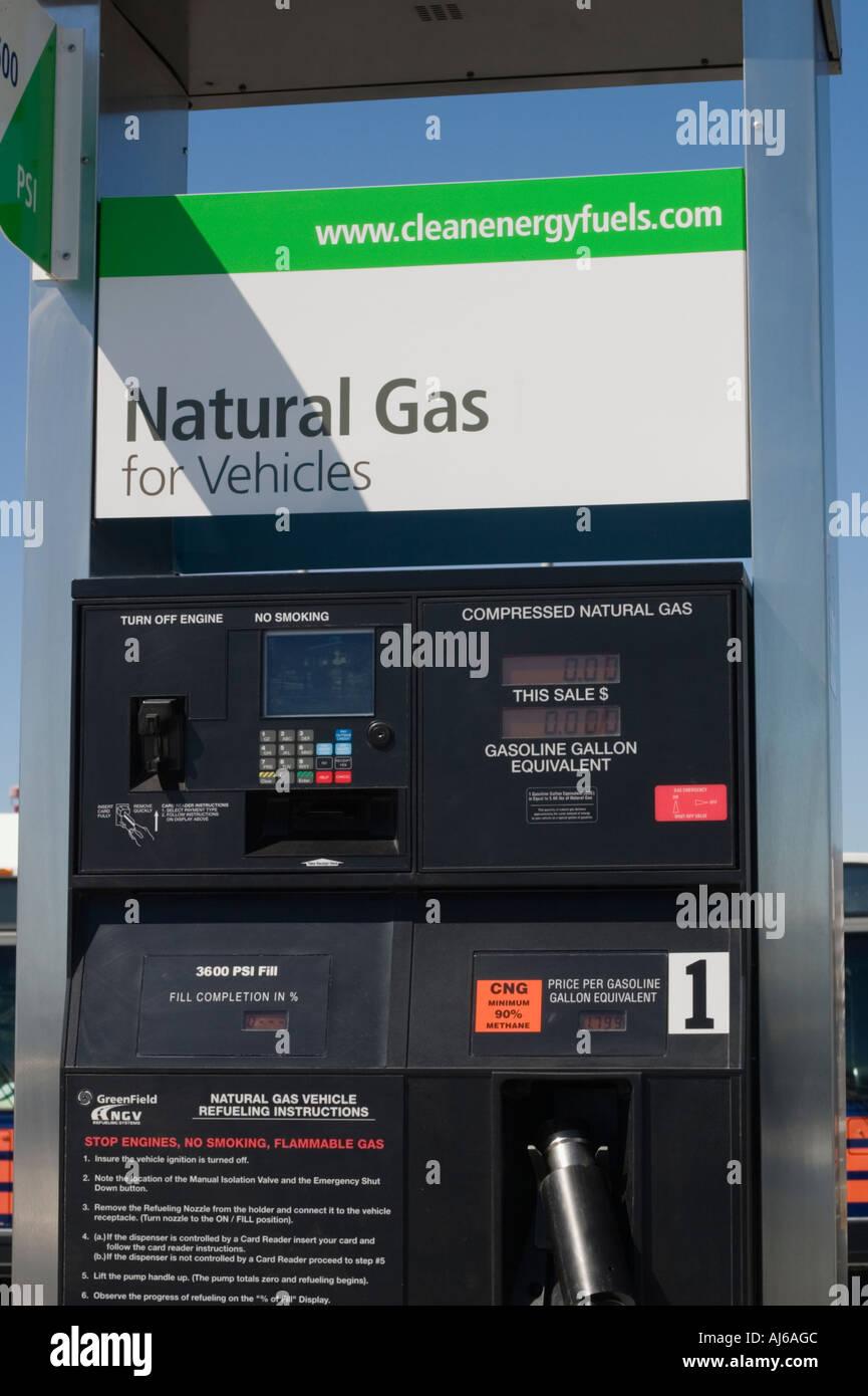Natural Gas pump for vehicles at San Francisco Airport