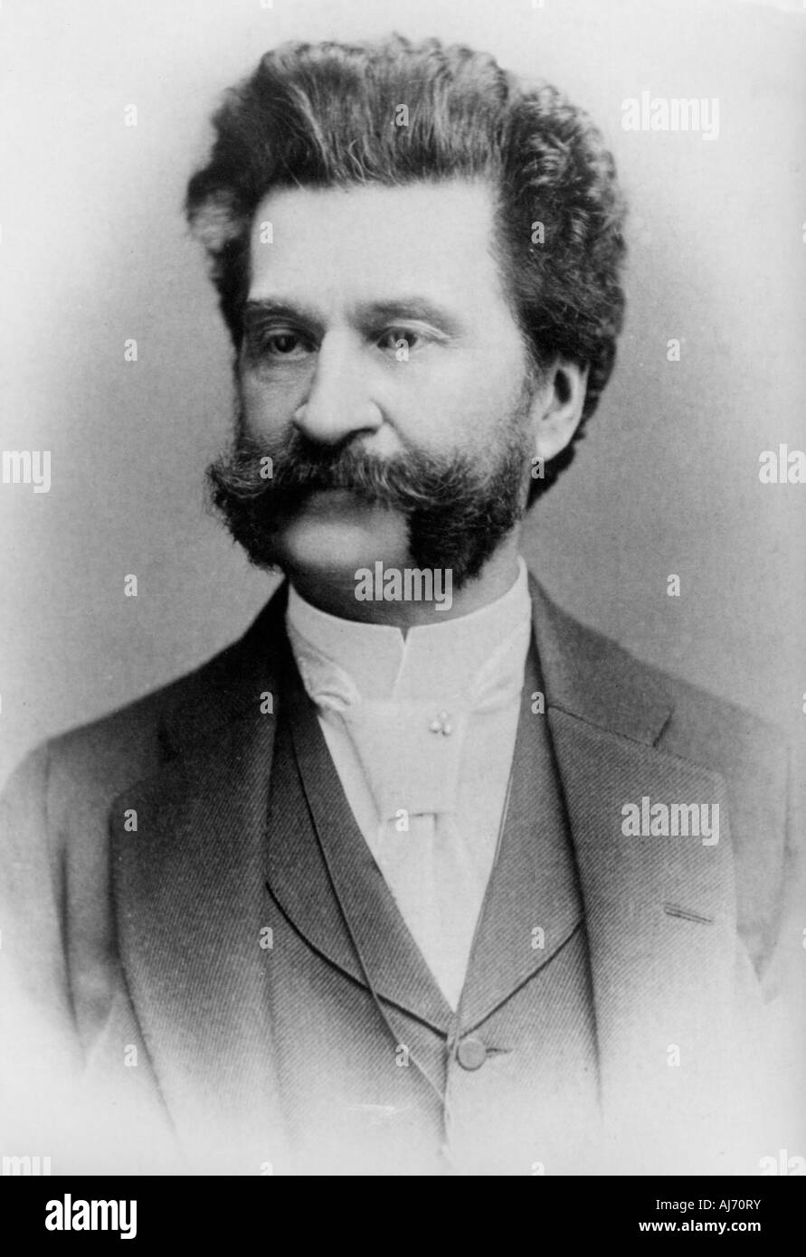 JOHANN STRAUSS II  Austrian composer 1825 to 1889 known as the Waltz King Stock Photo