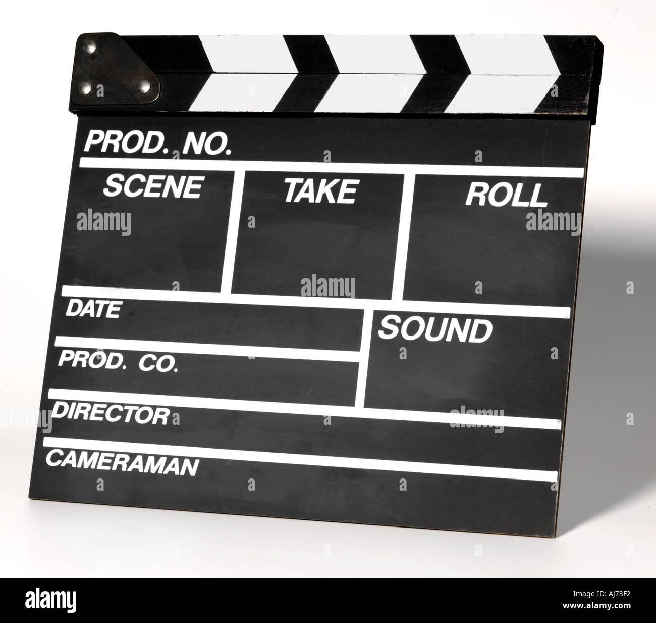 Directors Slate - Stock Image