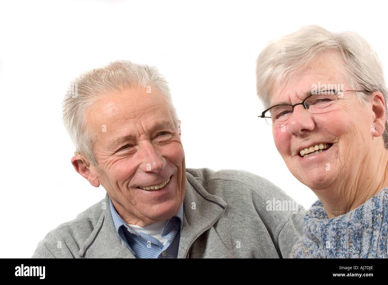 Happy senior couple - Stock Image