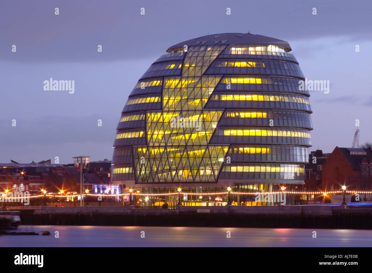 day GLA City Hall designed by Foster Partners in London England Britain United Kingdom UK - Stock Image