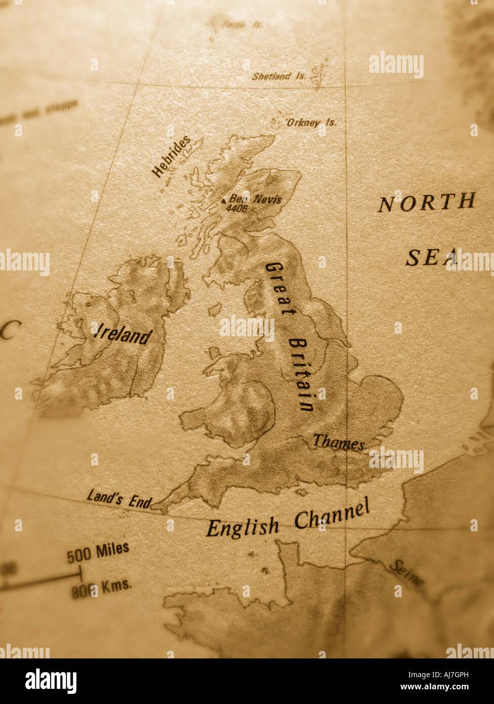 britain map Stock Image Map Britain