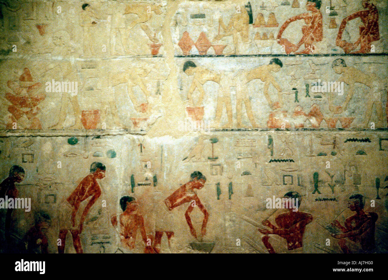 Working life in Ancient Egypt wall painting from an artisan s tomb ...