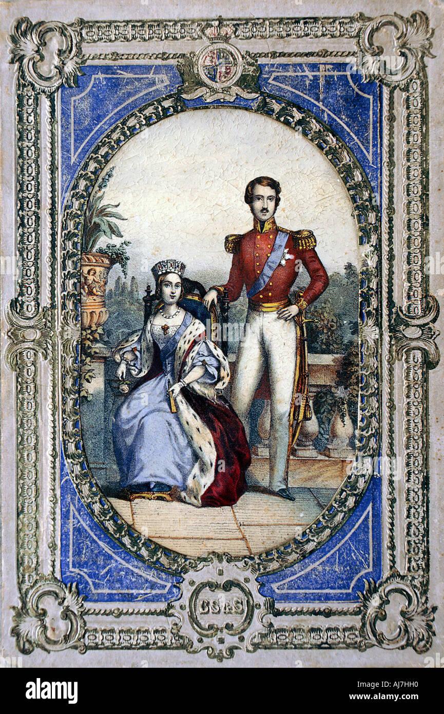 Queen Victoria and Prince Albert c1840s  - Stock Image