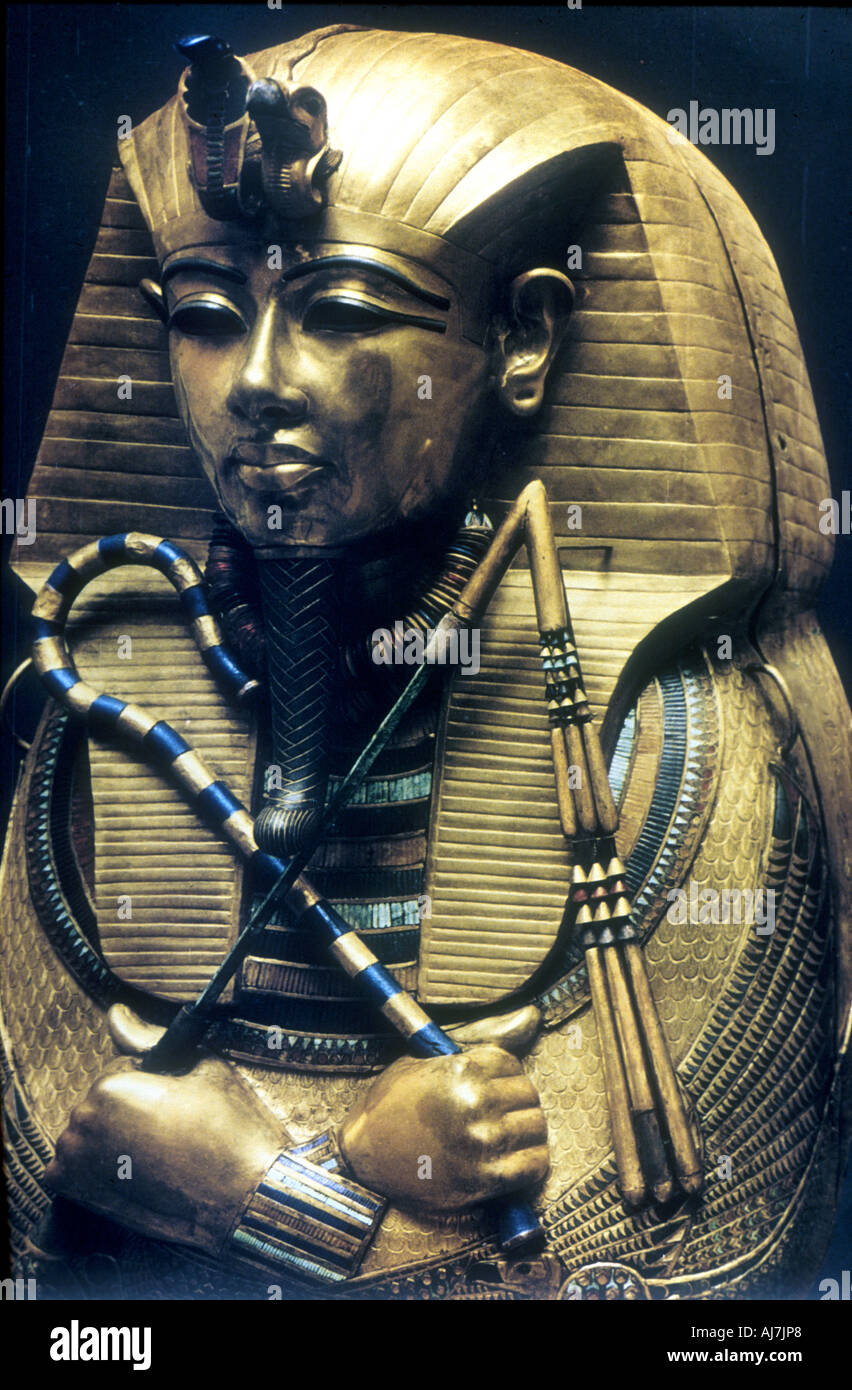 Coffin of Tutankhamun Ancient Egyptian Pharaoh c1325 BC  - Stock Image