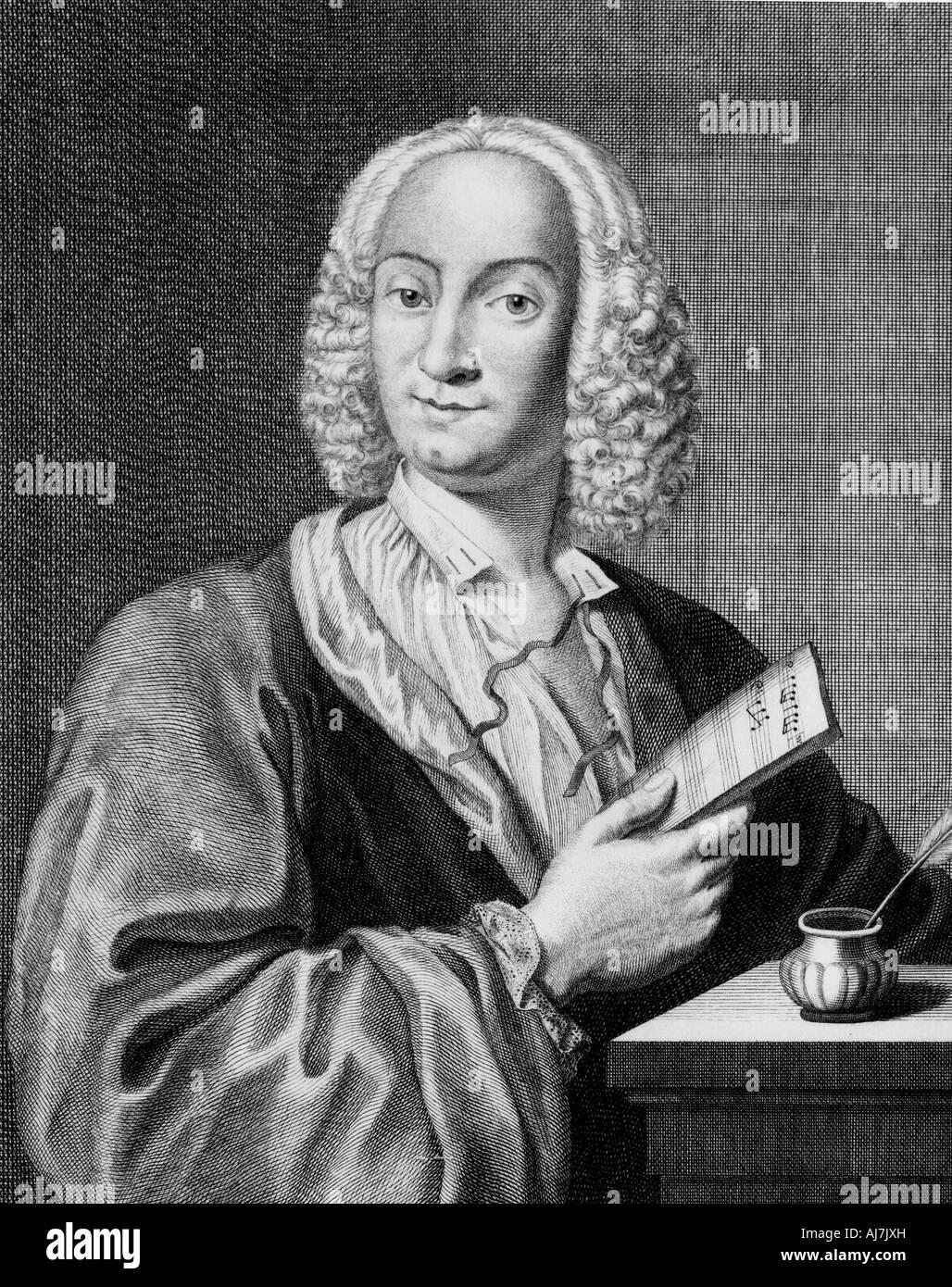 ANTONIO VIVALDI  Italian composer and violinist 1678 to 1741 - Stock Image