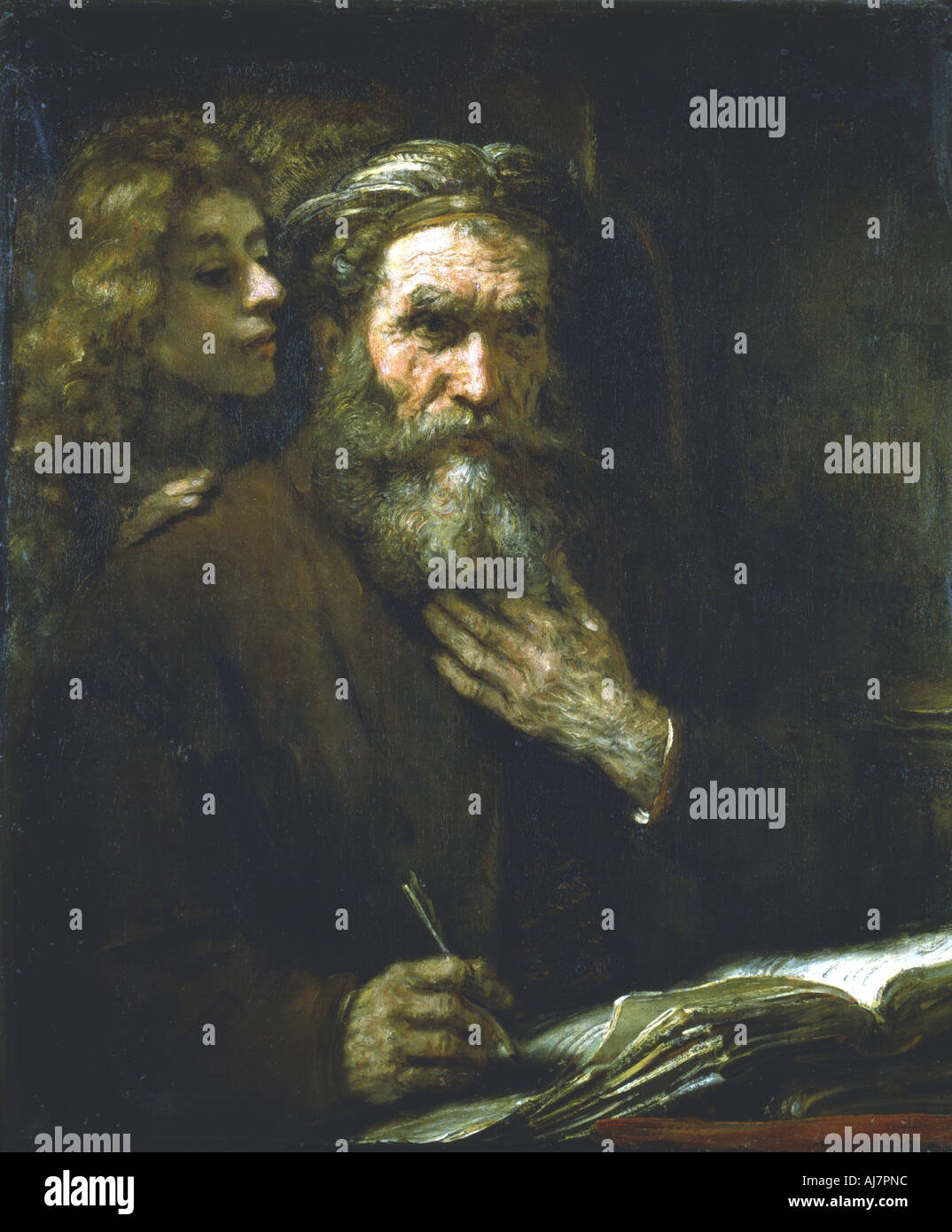 'St Matthew the Evangelist', 1661. Artist: Rembrandt Harmensz van Rijn Stock Photo