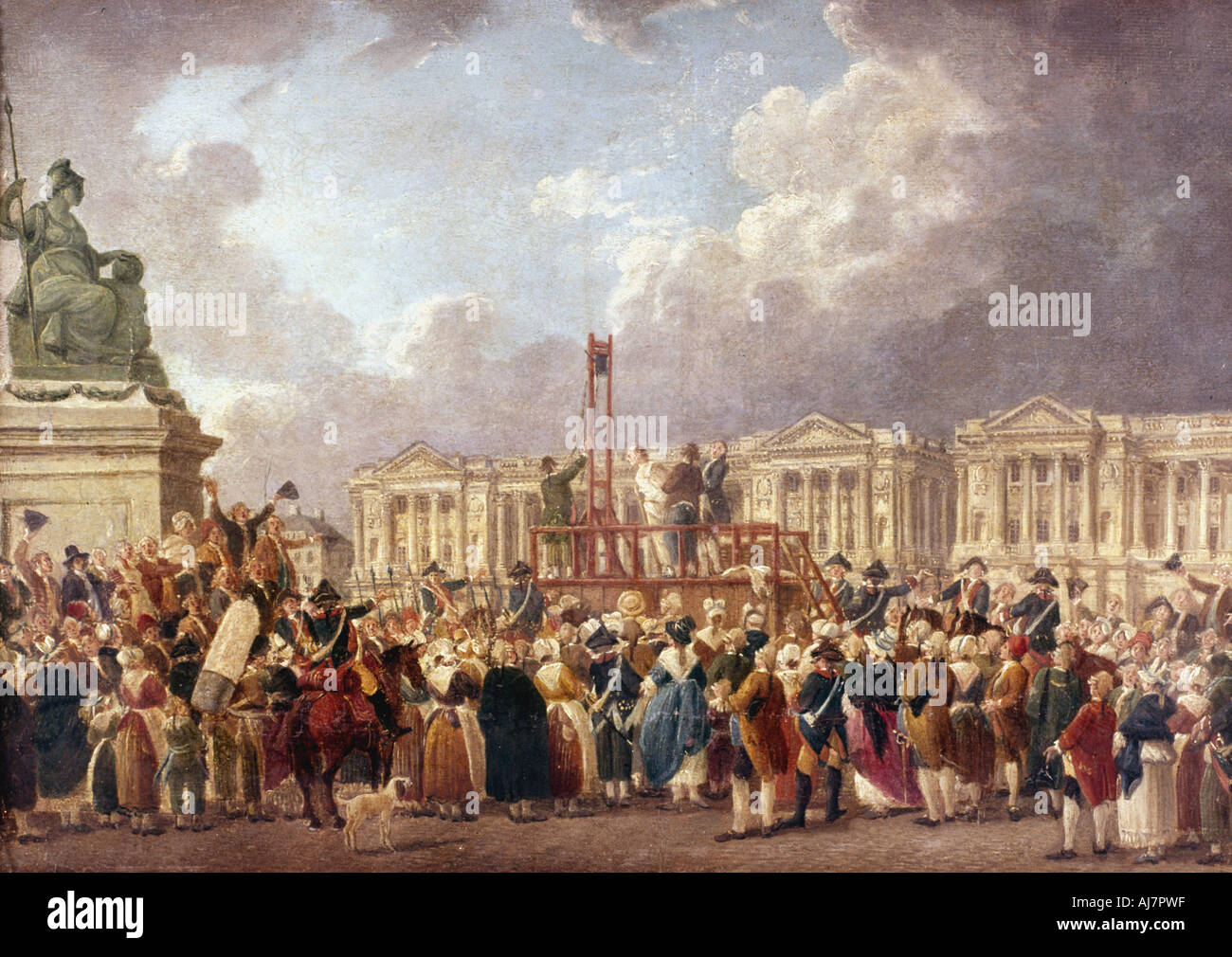 Execution by Guillotine in Paris during the French Revolution 1790s 1793  1807