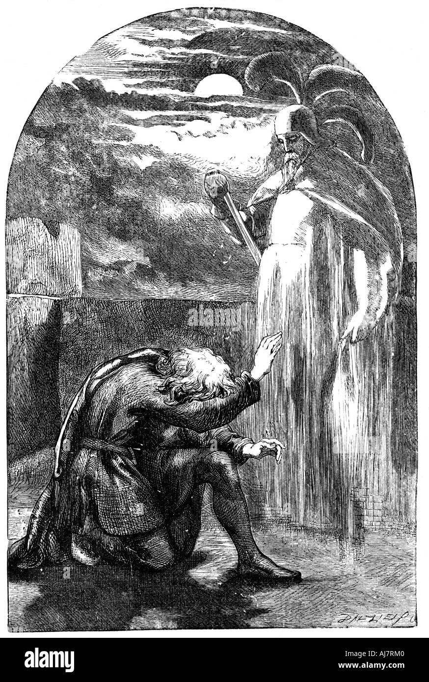 Scene from Shakespeare s Hamlet 19th century  - Stock Image