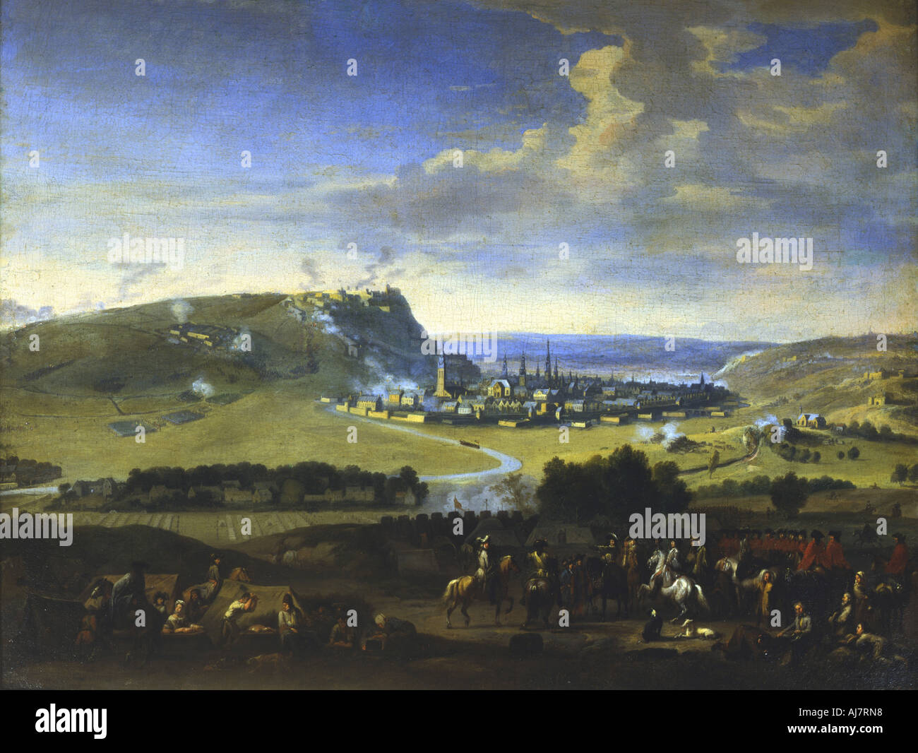 The Siege of Namur scene before the final attack 5 August 1695  - Stock Image