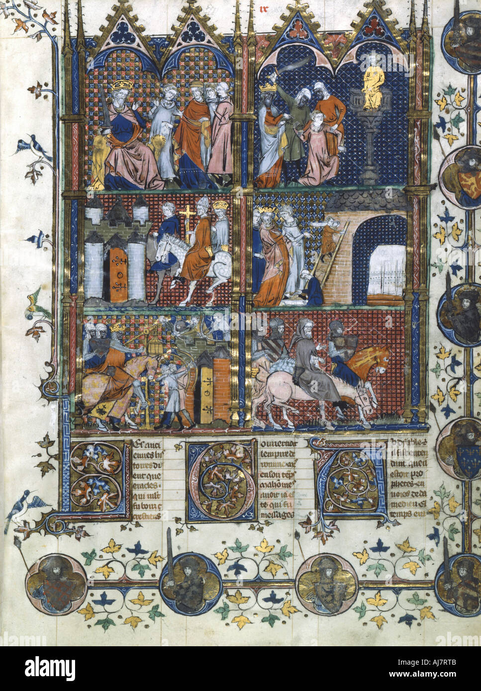 Scenes from the First Crusade 1096 1099 14th century  - Stock Image