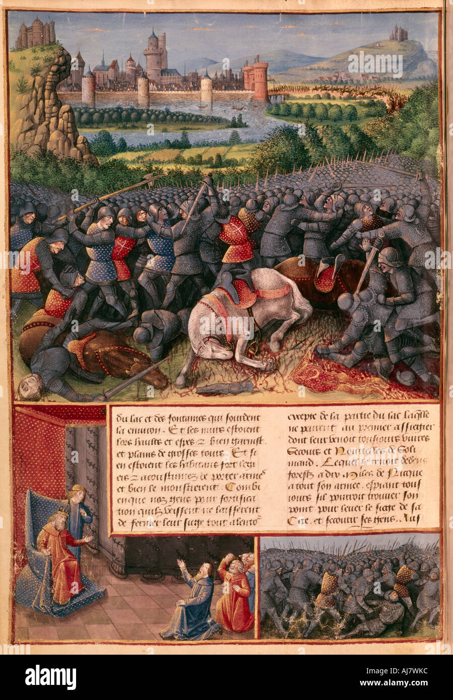 Scenes from the First Crusade 1096 1099 c1490  - Stock Image